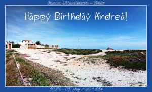 Happy Birthday Andrea from Platja L'Almadrava – Spain - 🎉🎂🥂🍾👍🏻