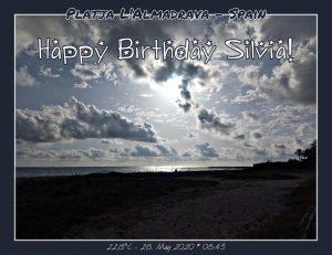 My View today - Platja L'Almadrava – Spain – WhatsApp-Gruppe - Happy Birthday Silvia!