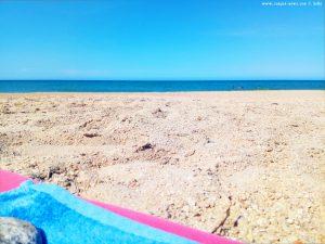Aussicht von meinem Strandplatz am Nachmittag - Platja L'Almadrava – Spain