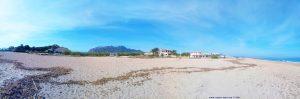 Meine Aussicht von meinem Strandplatz - Platja L'Almadrava - Spain