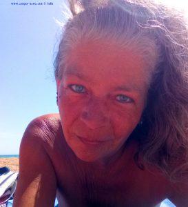 Selfie at Platja L'Almadrava – Spain