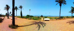 Viele Kite-Surfer in Los Urrutias - Spain