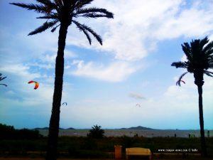 Jede Menge Kiter in Los Urrutias – Spain