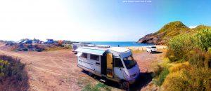 Parking at Cala Reona - Spain - July 2020