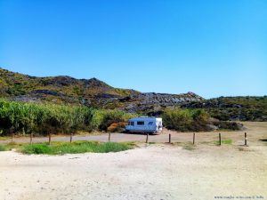 Parking at Cala Reona - Spain - July 2020