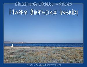 Happy Birthday Ingrid! 🎀🎁🥂🍾🎂🎊🎉✨🎇🎈