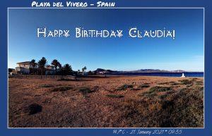 Happy Birthday Claudia! 🎀🎁🥂🍾🎂🎊🎉✨🎇🎈