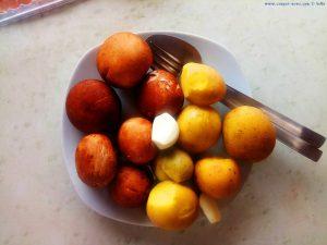 Funghis mit Butterkartoffeln - Lunch für Baffo am Platja L'Almadrava – Spain