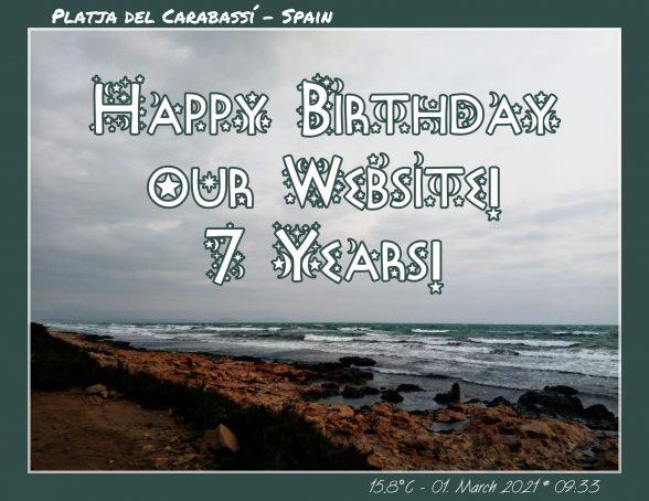 Happy Birthday unserer Webseite! Seit 7 Jahren im Netz!