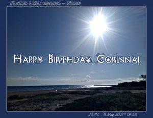 Happy Birthday Corinna! 🎀🎁🥂🍾🎂🎊🎉✨🎇🎈