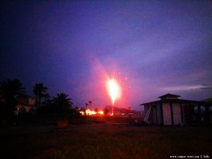 Feuerwerk am Playa del Vivero – Spain
