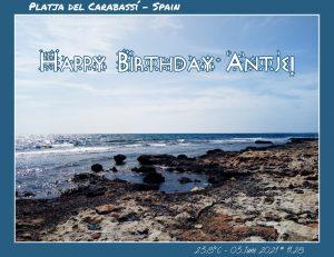 Happy Birthday Antje! 🎀🎁🥂🍾🎂🎊🎉✨🎇🎈