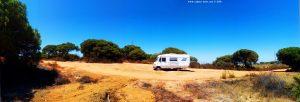Parking in El Portil - 21100 - Punta Umbría - Provinz Huelva - Spain - July 2021