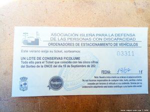 Eintritt (pro Person) für den Playa Cruce de la Redondela - Isla Cristina – Spain