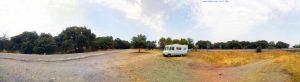 Parking in Monesterio 06260 - Rivera de Cala - Provinz Badajoz - Spain - July 2021