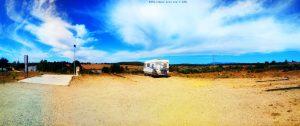 My View today - Área de Autocaravanas Mombuey – Spain
