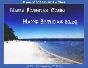 Happy Birthday Carin! 🎀🎁🥂🍾🎂🎊🎉✨🎇🎈