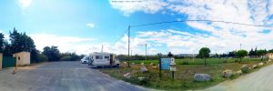 Parking in the Arie Camping Cars - 2 Route de Bages - 11440 Peyriac-de-Mer - France - September 2021