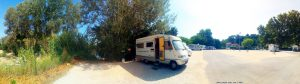Parking in Aire Camping-Car Park - Remoulins – France – September 2021