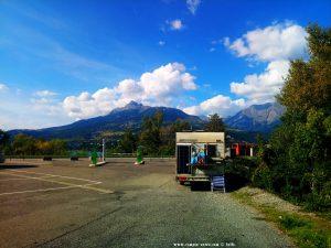 Parking in AREA CAMPER Savines le Lac - 1 Avenue du Faubourg - 05160 Savines-le-Lac – France – October 2021