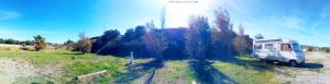 Parking in Arie CampingCar Park - Chemin des Vignes - 11210 Port-la-Nouvelle - France - October 2021